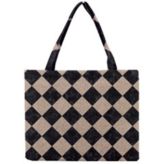 Square2 Black Marble & Sand Mini Tote Bag