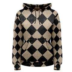 Square2 Black Marble & Sand Women s Pullover Hoodie