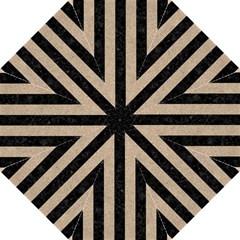 Stripes1 Black Marble & Sand Hook Handle Umbrellas (medium)