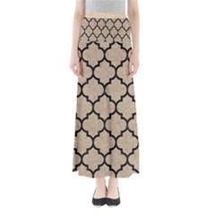 Tile1 Black Marble & Sand Full Length Maxi Skirt