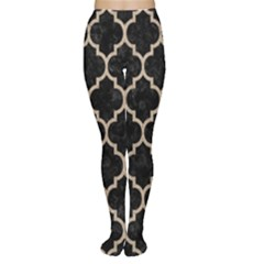 Tile1 Black Marble & Sand (r) Women s Tights