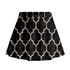 Tile1 Black Marble & Sand (r) Mini Flare Skirt