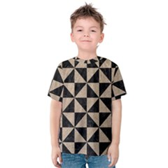 Triangle1 Black Marble & Sand Kids  Cotton Tee