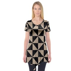 Triangle1 Black Marble & Sand Short Sleeve Tunic