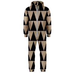 Triangle2 Black Marble & Sand Hooded Jumpsuit (men)