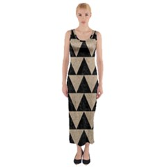Triangle2 Black Marble & Sand Fitted Maxi Dress