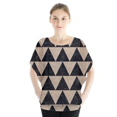 Triangle2 Black Marble & Sand Blouse