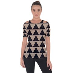 Triangle2 Black Marble & Sand Short Sleeve Top