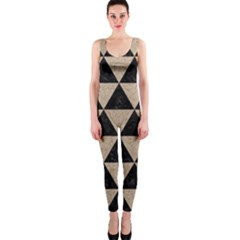 Triangle3 Black Marble & Sand Onepiece Catsuit