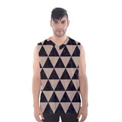 Triangle3 Black Marble & Sand Men s Basketball Tank Top