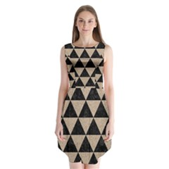 Triangle3 Black Marble & Sand Sleeveless Chiffon Dress