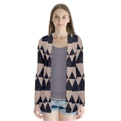 Triangle3 Black Marble & Sand Drape Collar Cardigan