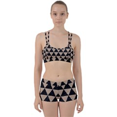 Triangle3 Black Marble & Sand Women s Sports Set