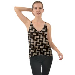Woven1 Black Marble & Sand (r) Cami