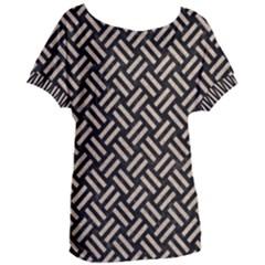 Woven2 Black Marble & Sand (r) Women s Oversized Tee