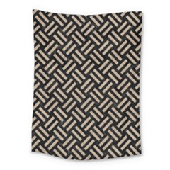 Woven2 Black Marble & Sand (r) Medium Tapestry