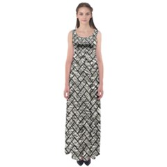 Brick2 Black Marble & Silver Foil Empire Waist Maxi Dress