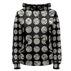 Circles1 Black Marble & Silver Foil (r) Women s Pullover Hoodie