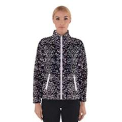 Damask2 Black Marble & Silver Foil (r) Winterwear