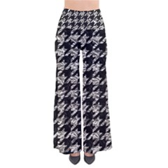 Houndstooth1 Black Marble & Silver Foil Pants