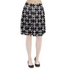 Puzzle1 Black Marble & Silver Foil Pleated Skirt