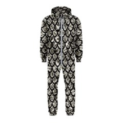 Scales1 Black Marble & Silver Foil Hooded Jumpsuit (kids)