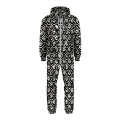 Scales2 Black Marble & Silver Foil Hooded Jumpsuit (kids)
