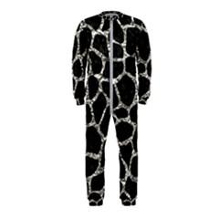 Skin1 Black Marble & Silver Foil Onepiece Jumpsuit (kids)