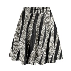 Skin3 Black Marble & Silver Foil High Waist Skirt