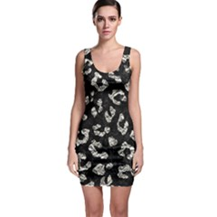 Skin5 Black Marble & Silver Foil Bodycon Dress