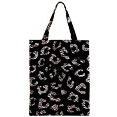Skin5 Black Marble & Silver Foil Zipper Classic Tote Bag