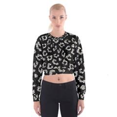 Skin5 Black Marble & Silver Foil Cropped Sweatshirt