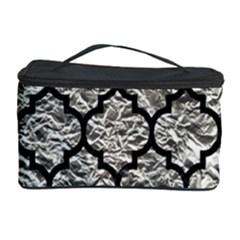 Tile1 Black Marble & Silver Foil Cosmetic Storage Case