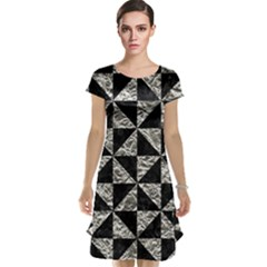 Triangle1 Black Marble & Silver Foil Cap Sleeve Nightdress