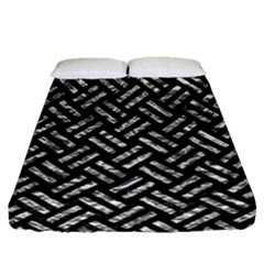 Woven2 Black Marble & Silver Foil (r) Fitted Sheet (queen Size)