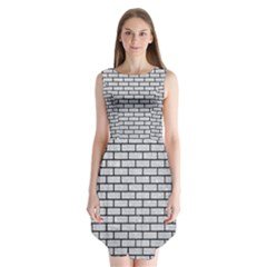 Brick1 Black Marble & Silver Glitter Sleeveless Chiffon Dress