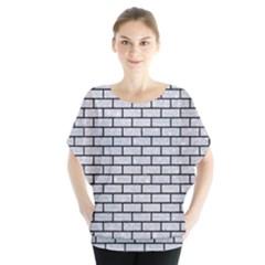 Brick1 Black Marble & Silver Glitter Blouse