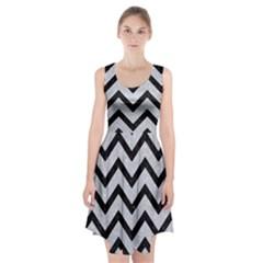 Chevron9 Black Marble & Silver Glitter Racerback Midi Dress