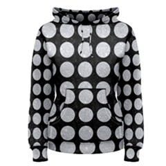 Circles1 Black Marble & Silver Glitter (r) Women s Pullover Hoodie