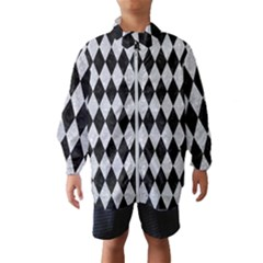 Diamond1 Black Marble & Silver Glitter Wind Breaker (kids)