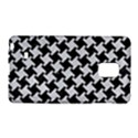 HOUNDSTOOTH2 BLACK MARBLE & SILVER GLITTER Galaxy Note Edge View1