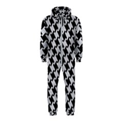Houndstooth2 Black Marble & Silver Glitter Hooded Jumpsuit (kids)