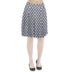 Scales1 Black Marble & Silver Glitter Pleated Skirt