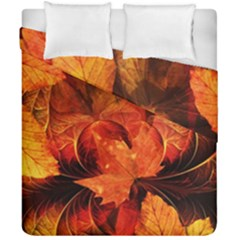 Ablaze With Beautiful Fractal Fall Colors Duvet Cover Double Side (california King Size)