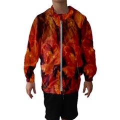 Ablaze With Beautiful Fractal Fall Colors Hooded Wind Breaker (kids)