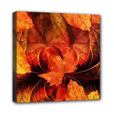 Ablaze With Beautiful Fractal Fall Colors Mini Canvas 8  X 8