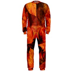 Ablaze With Beautiful Fractal Fall Colors Onepiece Jumpsuit (men)