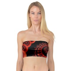 Chinese Lantern Festival For A Red Fractal Octopus Bandeau Top