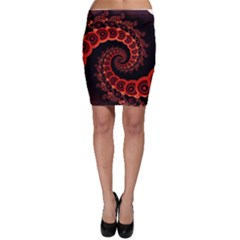Chinese Lantern Festival For A Red Fractal Octopus Bodycon Skirt