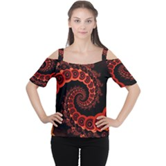 Chinese Lantern Festival For A Red Fractal Octopus Cutout Shoulder Tee